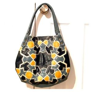 Leather patchwork bag
